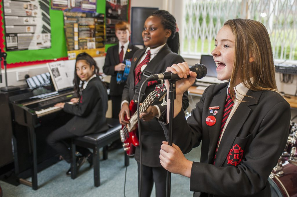 Gifted and talented students in our music studio