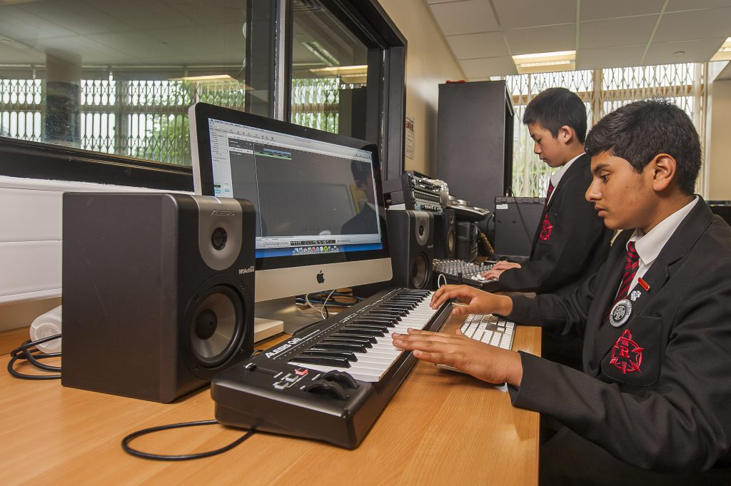 Students in our music studio