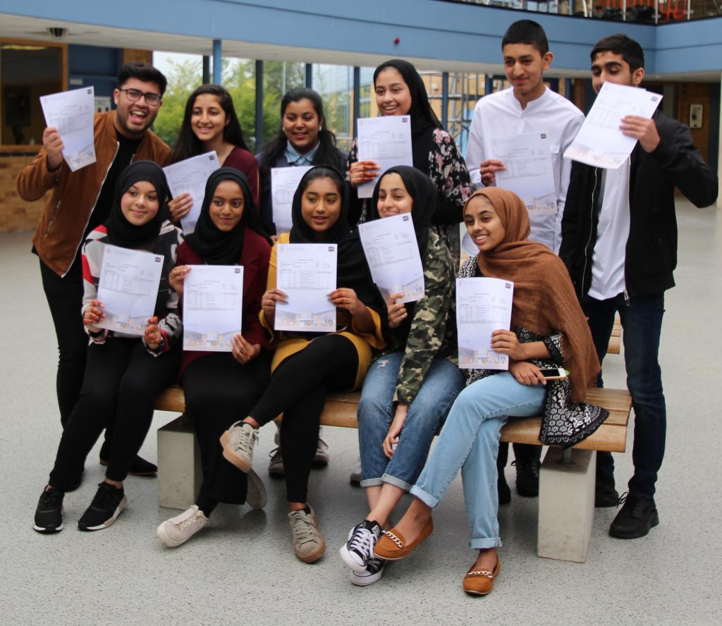 Students celebrating their 2018 GCSE Results