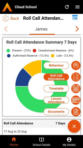 Cloud School Parent Roll Call Attendance screenshot